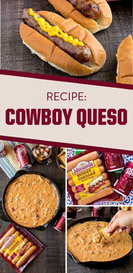 Football homegating season wouldn't be complete without comfort food. So before kick-off starts, whip up this recipe for Cowboy Queso to round out your game day menu. Made with Johnsonville Beddar with Cheddar Smoked Sausages, Original Johnsonville Brats, and plenty of creamy ingredients, your guests are sure to agree that this savory dip is best paired with Dr Pepper. Grab everything you need for this shareable snack—and all your other fall tailgating essentials—at your local Publix.
