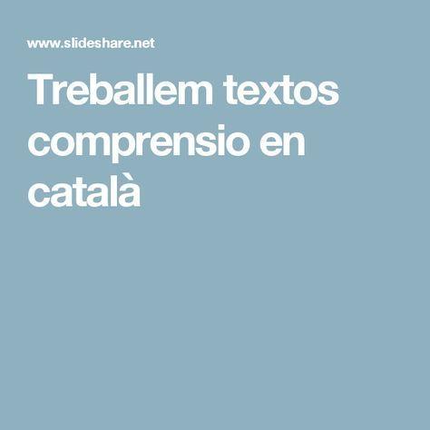 Treballem textos comprensio en català