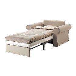 IKEA - BACKABRO / MATTARP, Fauteuil convertible, , Tygelsjö beige, , Se transforme en lit en un tour de main.L'espace de rangement sous l'assise peut accueillir du linge de lit par exemple.Les ressorts ensachés offrent un soutien localisé à votre corps et permettent à la colonne vertébrale de rester bien droite.La housse est facile à entretenir car elle est amovible et lavable en machine.
