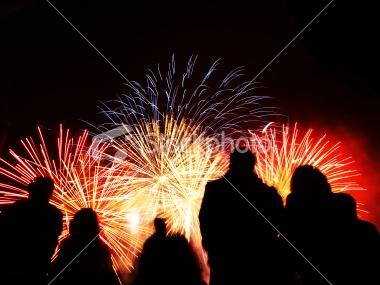 Battersea Fireworks 2010 Royalty Free Stock Photo