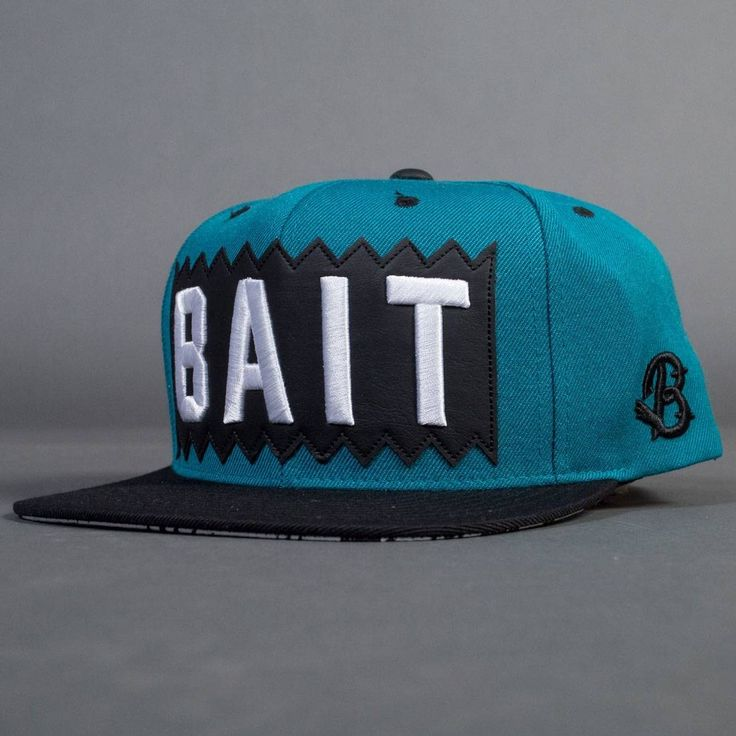 Bait x mitchell and ness box logo snapback cap turquoise