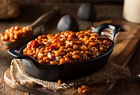Boston Baked Beans Cooked on  the grill