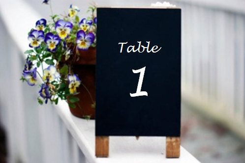 Rustic Wedding Table Numbers  Chalkboard Table by CountryBarnBabe, $8.00