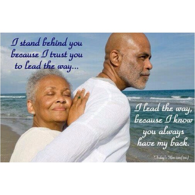 This is what love and marriage should be about. Stability & longevity.