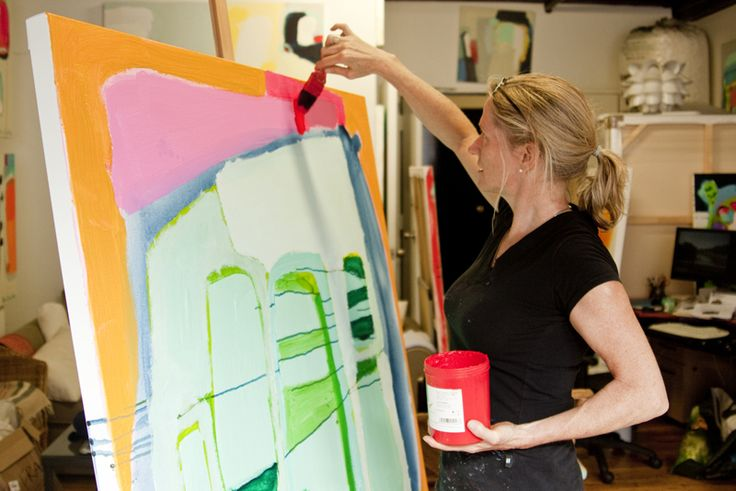 """The artist painting: """"From the studio of... Claire Desjardins"""" (interview with Saatchi Online)."""