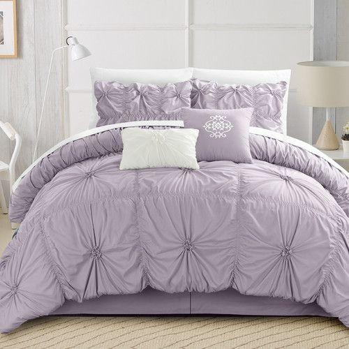 Found it at AllModern - Halpert Floral Pinch 6 Piece Comforter Set
