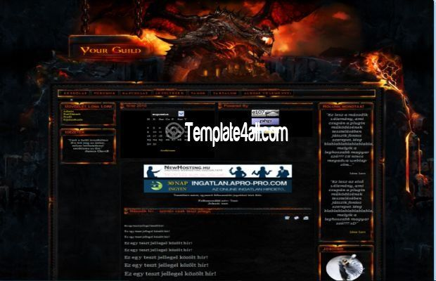 E107 Themes - World of Warcraft WOW Template Theme To Download #WOW