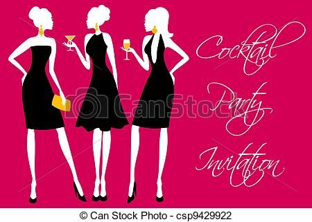 Vector - feestje,  Cocktail, uitnodiging - stock illustratie, royalty-vrije illustraties, stock clip art symbool, stock clipart pictogrammen, logo, line art, EPS beeld, beelden, grafiek, grafieken, tekening, tekeningen, vector afbeelding, artwork, EPS vector kunst