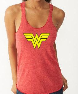 Wonder Woman Shirt Running Tank Wonder Woman    by RunningPoetry