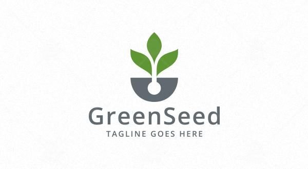 Green Seed Logo - Logos & Graphics