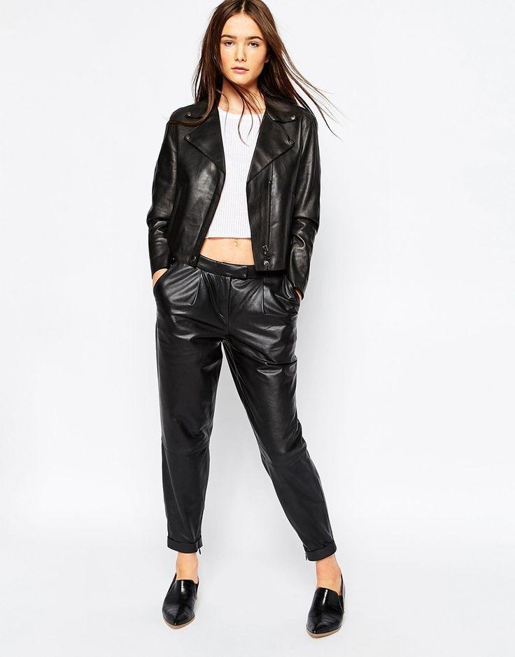 Muubaa Lanus Cropped Leather Trouser
