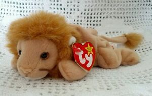 Ty Original Beanie Babies Retired Roary the Lion February-20-1996 New MWMT