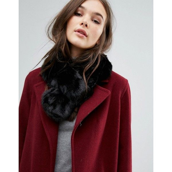 7X Faux Fur Scarf (895 RUB) ❤ liked on Polyvore featuring accessories, scarves, black, faux fur shawl, short scarves, faux fur scarves, wrap shawl and fake fur scarves