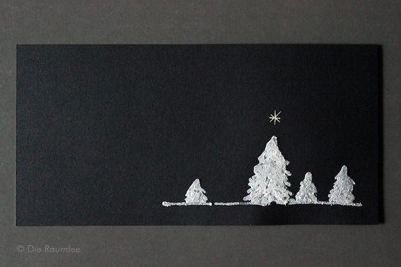 """Die Raumfee: Sternenstaubweihnacht - DIY Weihnachtskarten, """"gemalt"""" mit gemahlenen schweizer Steinen aus dem Binntal // Stardust Christmas - DIY Christmas cards, """"painted"""" with ground Swiss stones from the Binn Valley"""