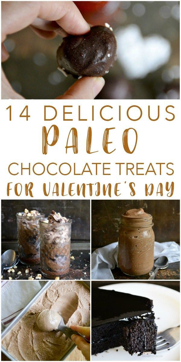 14 delicious, grain-free and refined-sugar free chocolate treats that are perfect for Valentine's Day! Or any day...
