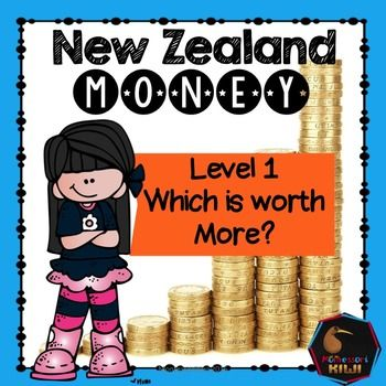 An activity designed to help students work out which coin is worth more using New Zealand currency. This work can be completed as an independent activity or you may laminate it and it can be on your maths shelf!HOW TO USE: Photocopy and if desired laminate.