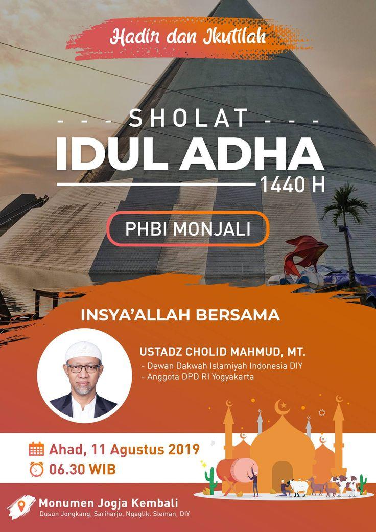Referensi Poster Sholat Idul Adha bersama ustz. Cholid