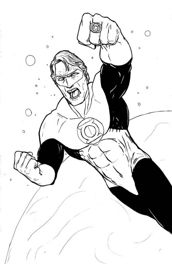 Green Lantern World Hero Coloring Superhero