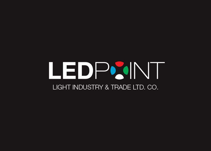 """LEDPOINT"" Led Lighting Logo and Corporate Design"