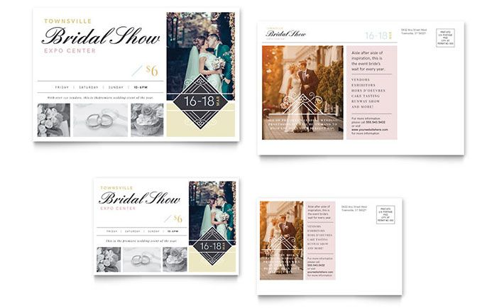 Bridal Show Postcard Template Design by StockLayouts