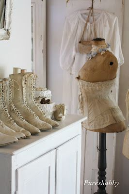 Sweet dress form & victorian boots