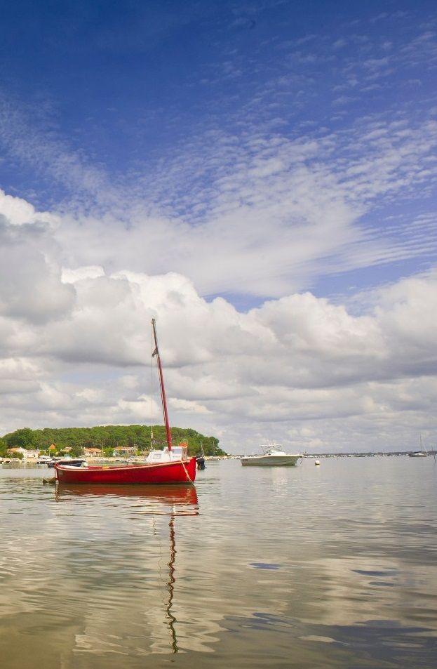 Les pinasses des pêcheurs, touches de couleurs sur le bassin ! #barque #pêche #bassin #bateau