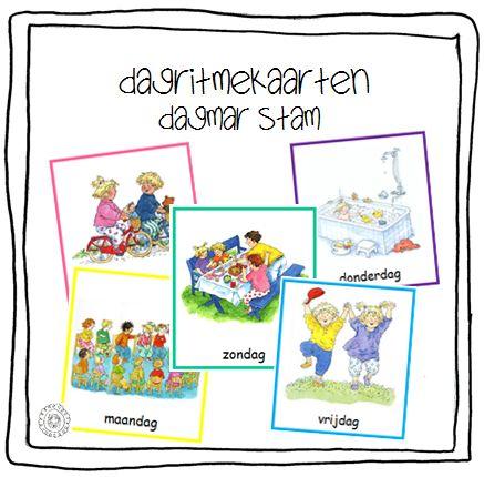 Dagritmekaarten DAGEN VAN DE WEEK (Dagmar Stam)