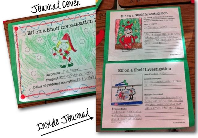 Elf on the shelf writing activities: Shelf Journals, Elf Watches, Christmas Elf, Elf On Shelf, Classroom Christmas, Shelf Ideas, Shelf Investigations, Classroom Ideas, Christmas Ideas