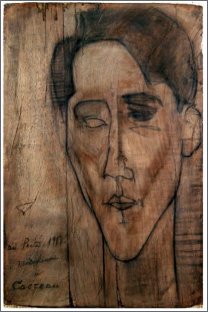 Sketch of Jean Cocteau by Modigliani, 1919.