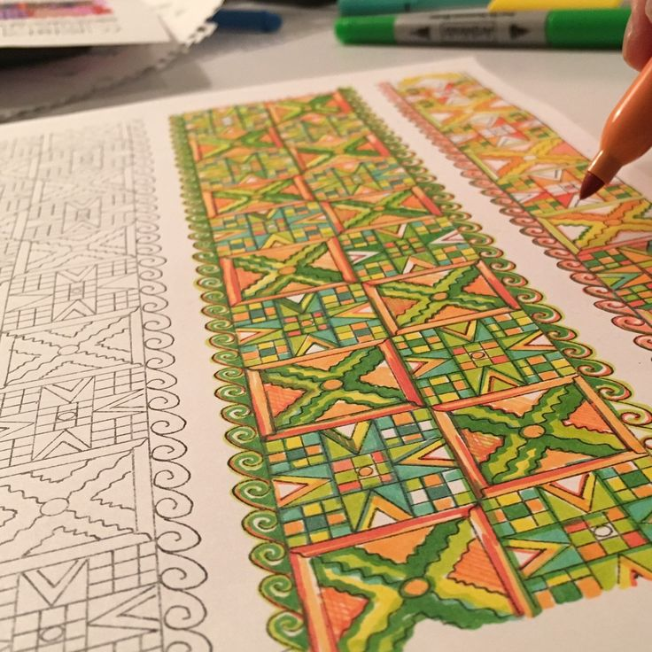 Coloring fun for adults and young adults/teens or anyone who enjoys more intricate patterns!