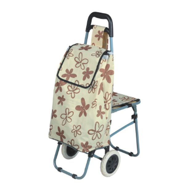 High Quality Fashionable Polyester Eva Coating Folding Grocery Cart Supermarket Food Shopping Trolley Bag Wit Shopping Trolley Trolley Bags Supermarket Trolley