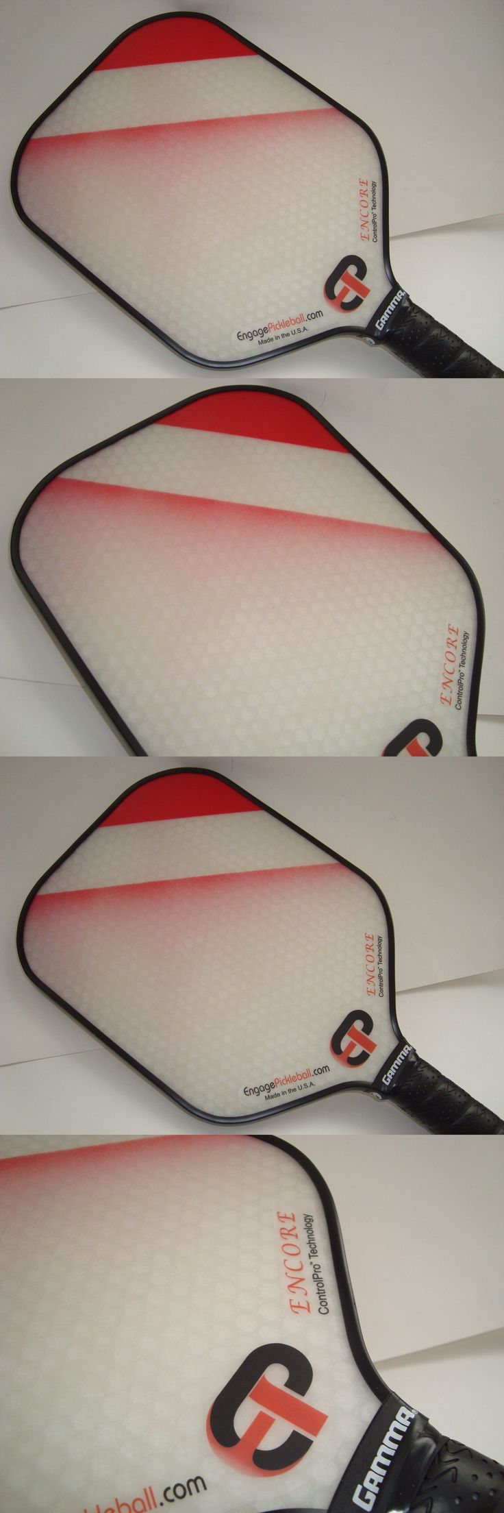 Other Tennis and Racquet Sports 159135: Super New Engage Encore Pickleball Paddle Enhanced Control Spin Red Fade -> BUY IT NOW ONLY: $79 on eBay!