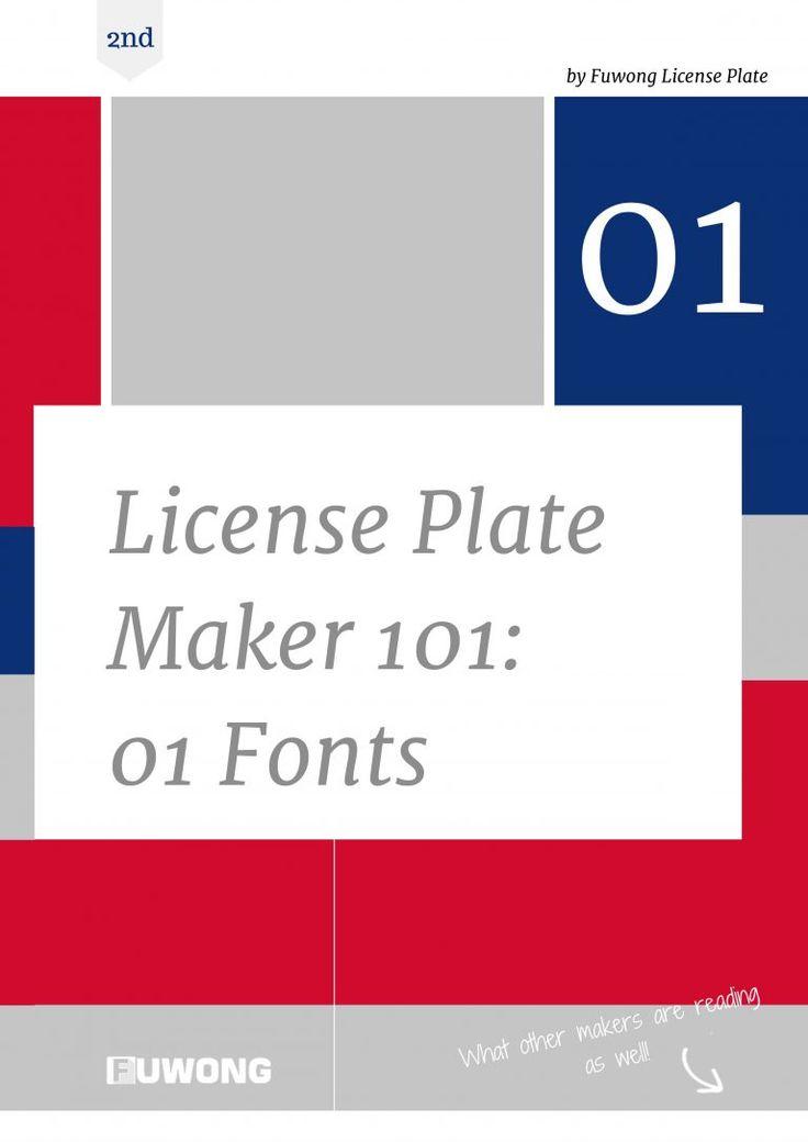 license plate maker machine