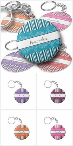 Bright, Colorful Keychains - fully customizable and ready to be personalized
