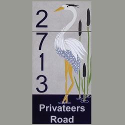 Blue Heron House Numbers