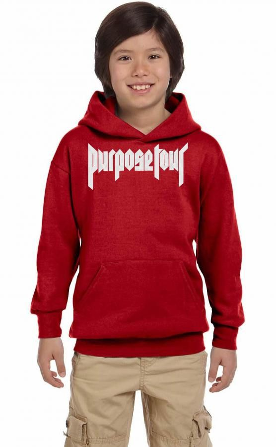 Justin Bieber Purpose Tour Embroidered Hat Youth Hoodie