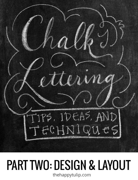chalk lettering part two design layout found on thehappytulipcom chalkboard - Chalkboard Designs Ideas