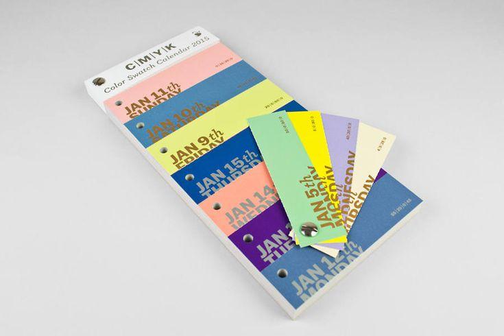 Calendario 2015 con muestras de colores CMYK