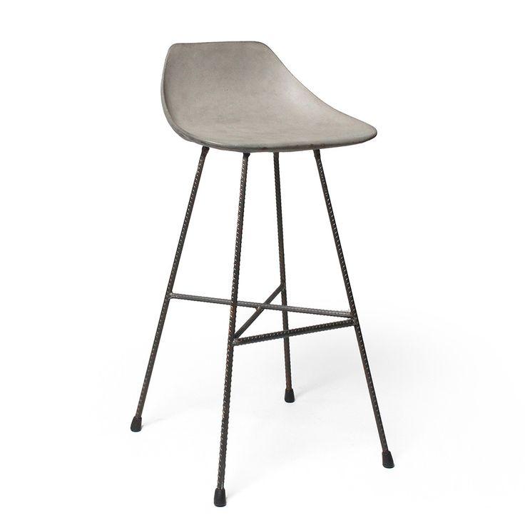Discover+the+Lyon+Beton+Concrete+Hauteville+Counter+Chair+at+Amara