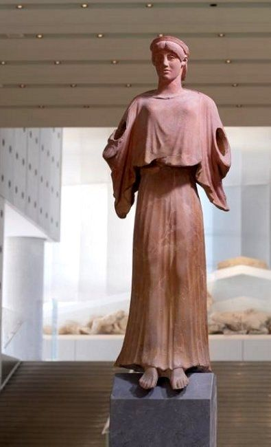 Nike ~ terracotta statue from the south slope of the Acropolis (1st-3rd cent), Acropolis Museum, Athens