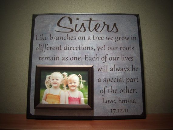 SISTERS Picture Frame, Wedding Gift, Like Branches On A Tree, Best Fr ...