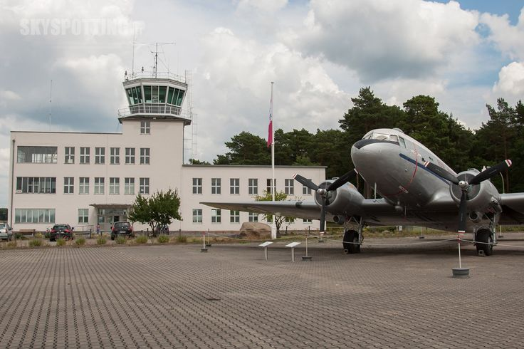 Abingdon Airport (EGUD) England, United Kingdom - Tower and C-47/DC-3