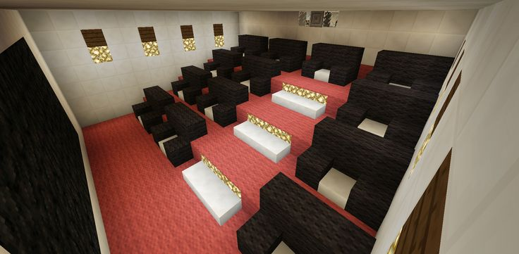 Minecraft Home Movie Theater Entertainment Room Creations