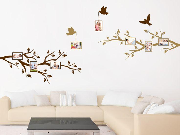 Amazing Wandtattoo ste mit Fotorahmen von WANDTATTOO DE Bilderrahmen Wanddekoration Wandaufkleber bunt