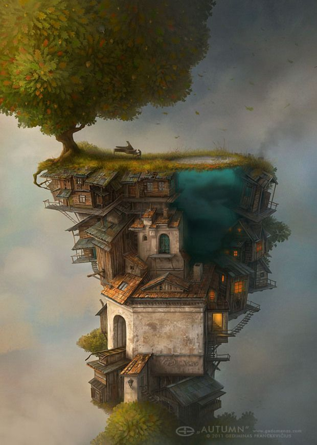 Beautiful Surreal World Illustrations by Gediminas Pranckevicius
