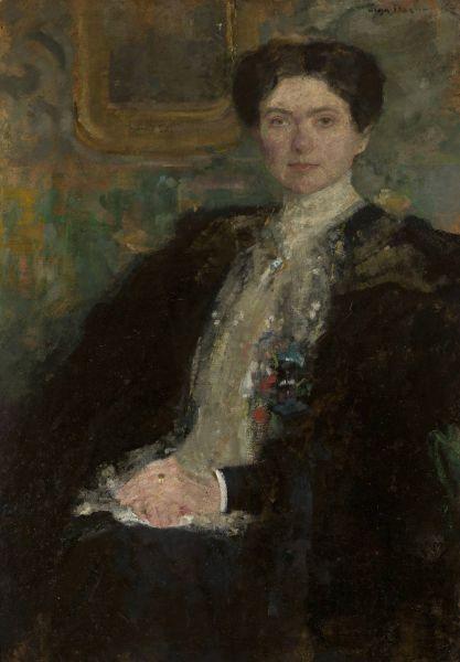 Portret Zofii z Grabskich Kirkor-Kiedroniowej - Olga Boznańska