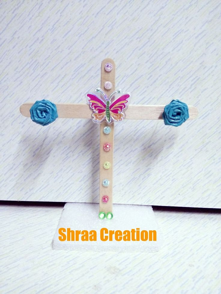 Best Out Of Waste Popsicle Stick Earrings Display Stand Shraa Creation
