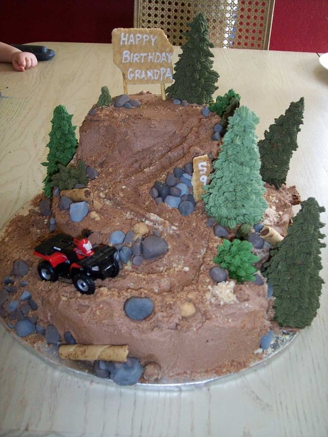 four wheeler cakes | four wheeler cake this cake is three cakes stacked and then carved it ...