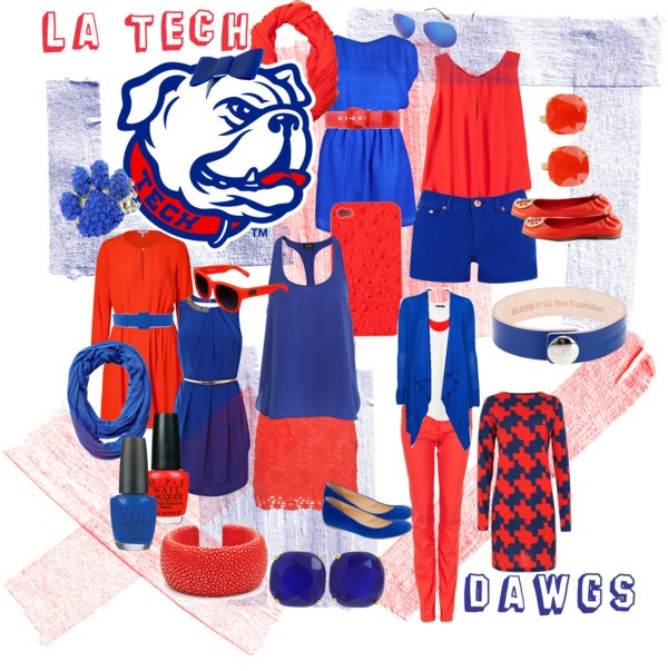 Louisiana Tech Game DayClothes'S Fashion, Fashion Beautiful, Louisiana Tech, Latech, Clothing, Closets, Game Day Outfits La Tech, Tech Style, Tech Games