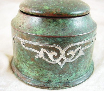 230 best images about 5 arts crafts style inkwell and for Metal arts and crafts